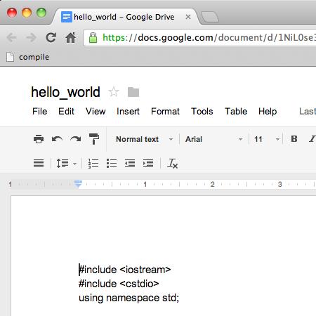 Google Docs Compiler